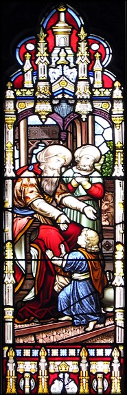 Stained glass window of Clayton & Bell