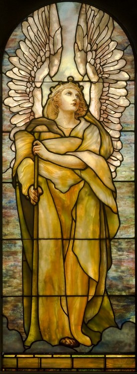 Angel, Tiffany Studios, MMFA, Montreal