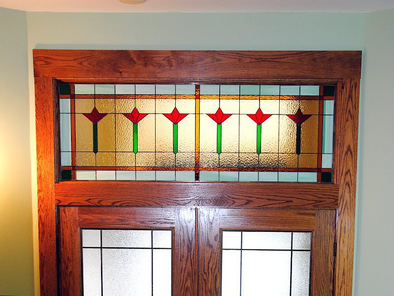 Transom installed over a double door