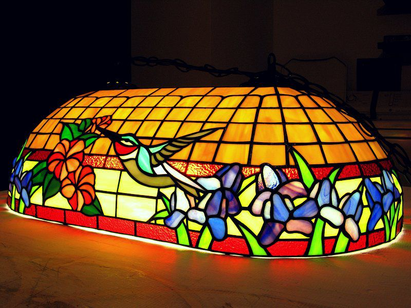 Oval Tiffany lamp model