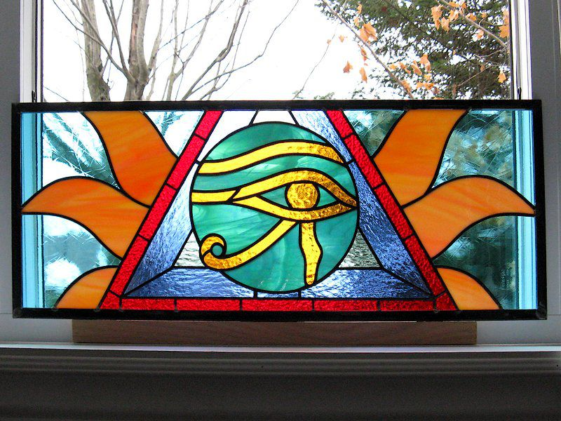 «Eye of Horus» stained glass panel