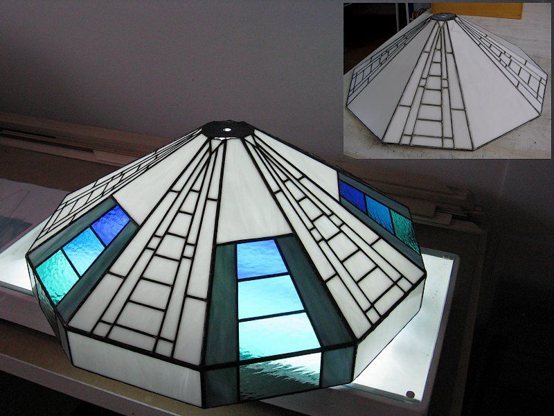 Repairs and improvements of a stained glass lampshade