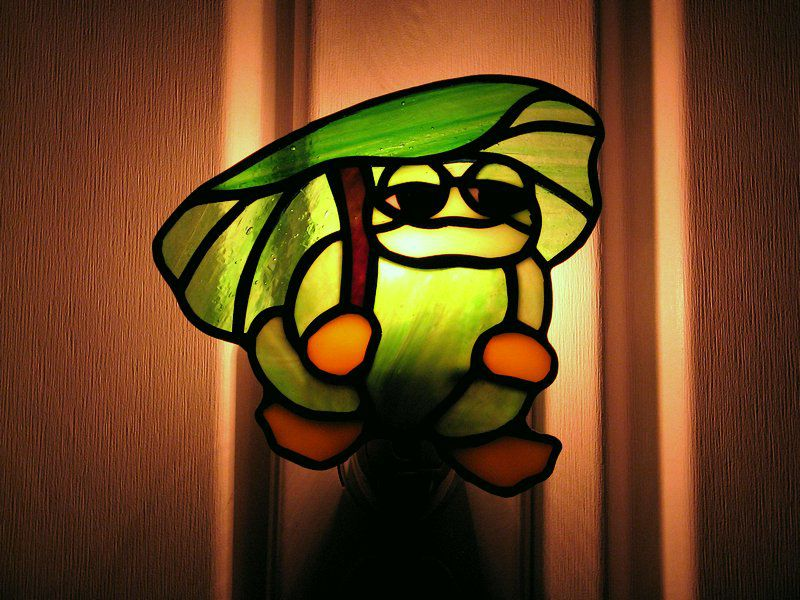 Frog pattern night light