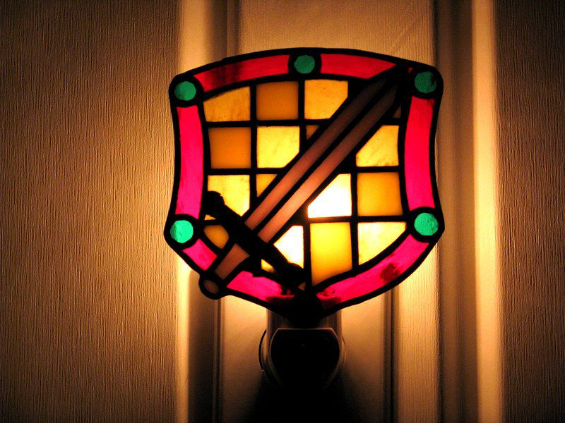 Medieval pattern night light
