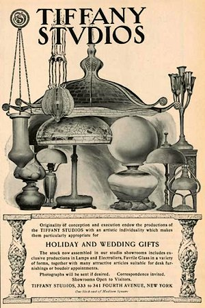 Advertisement of Tiffany Studios