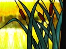 Wallpaper cattail pattern